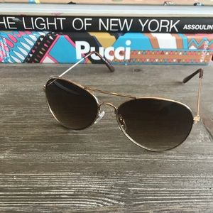 Aviators Sunglasses Gold and Brown